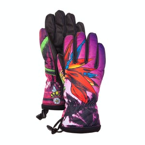 Celtek Loved by a Glove Women's Snowboard Gloves — Bird of Paradise