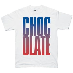Chocolate Big Chocolate Graphic T-Shirt — White