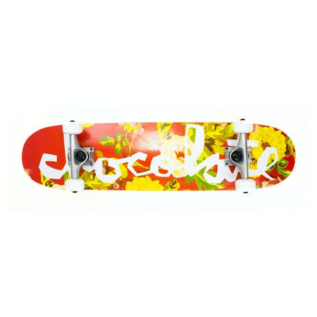 "Chocolate Perez Floral Chunk 7.5"" Complete Skateboard"