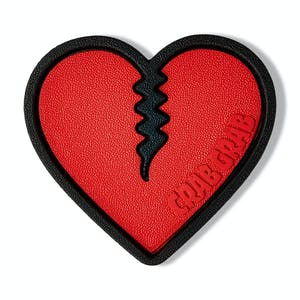 Crab Grab Mega Heart Stomp Pad - Red/Black