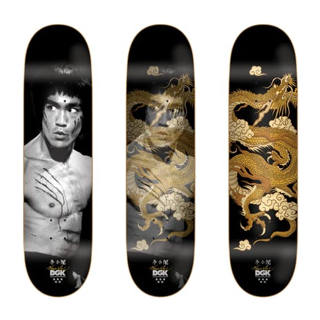"DGK x Bruce Lee Golden Dragon 8.25"" Skateboard Deck - Lenticular/Holographic"