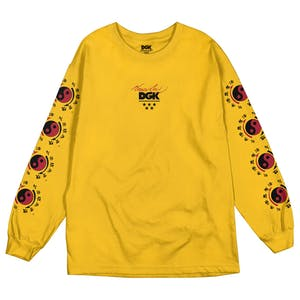 DGK x Bruce Lee Little Dragon Long Sleeve T-Shirt - Gold