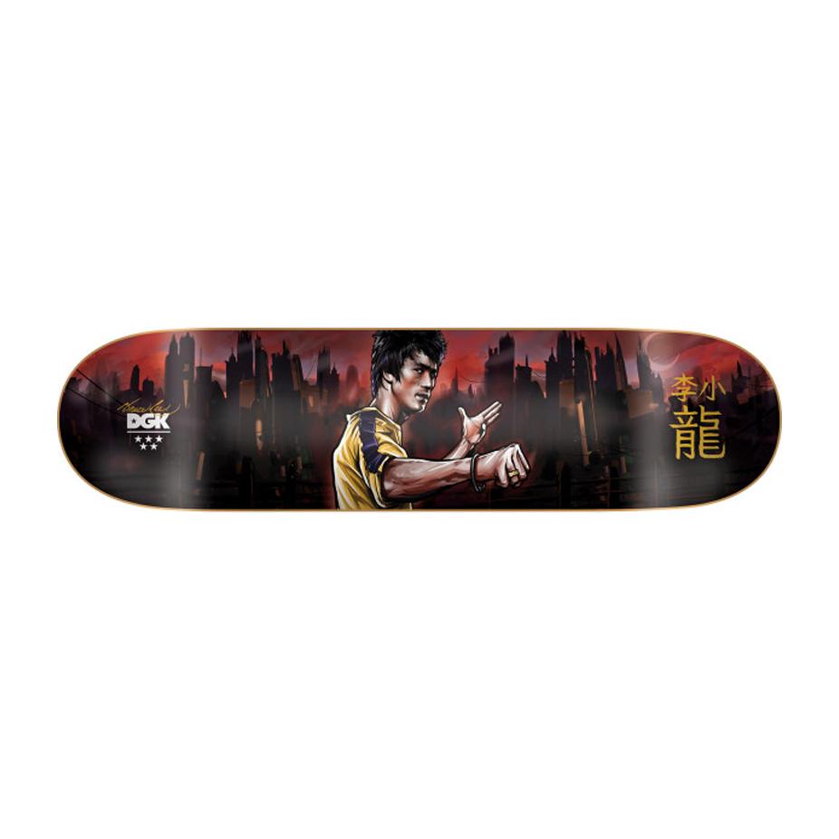 DGK x Bruce Lee Focused Skateboard Deck 8.38