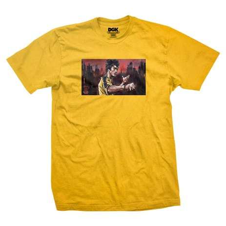 DGK x Bruce Lee Warrior T-Shirt - Gold
