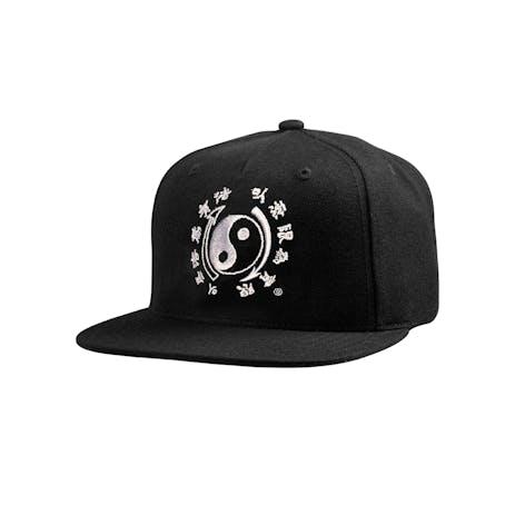DGK x Bruce Lee Yin Yang Snapback Hat - Black