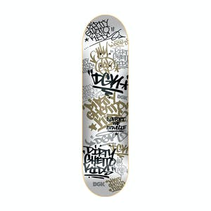 "DGK Tag 8.1"" Skateboard Deck - White/Gold"