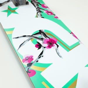 """DGK Blossom 7.75"""" Complete Skateboard - Turquoise"""