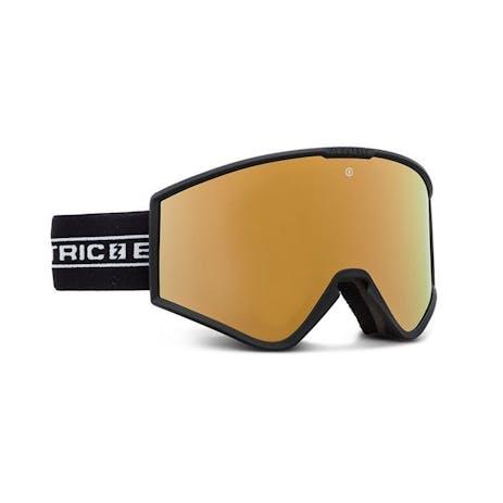 Electric Kleveland Small Snowboard Goggle 2021 - Black Tape / Brose / Gold Chrome + Spare Lens
