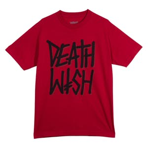 Deathwish Deathstack T-Shirt - Cardinal Red