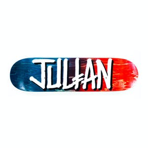 "Deathwish Julian Gang Name 8.0"" Skateboard Deck - Black/Red"