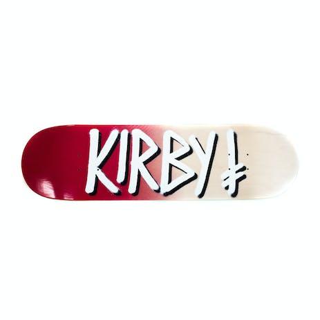 "Deathwish Kirby Gang Name 8.5"" Skateboard Deck - Burgundy/White"