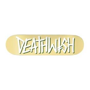 """Deathwish Deathspray 8.0"""" Skateboard Deck - Pale Yellow"""