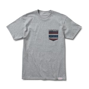 Diamond Fairisle Pocket T-Shirt — Heather