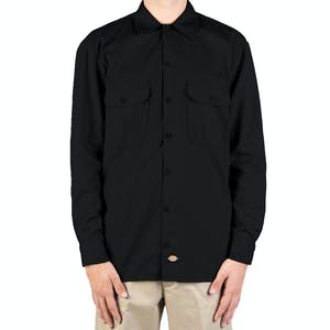 Dickies Long Sleeve Work Shirt - Black