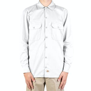 Dickies Long Sleeve Work Shirt - White