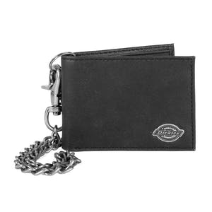 Dickies Chain Leather Wallet - Black