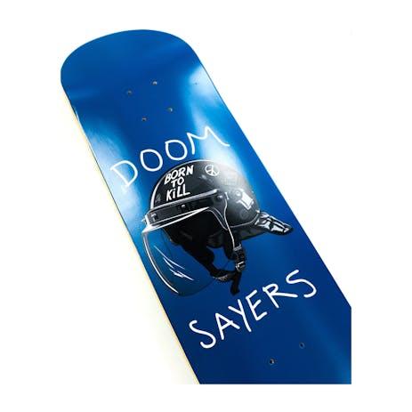 "Doom Sayers Riot Helmet 8.5"" Skateboard Deck - Blue"
