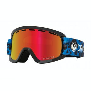 Dragon Lil D Youth Snowboard Goggle 2020 - Dart Blue / Red Ion