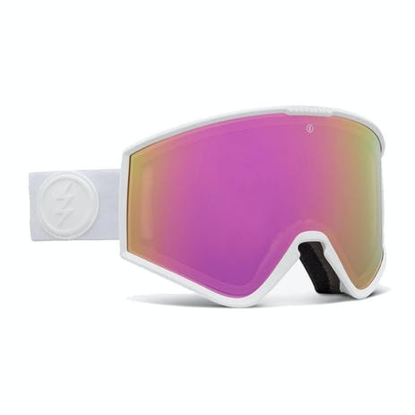 Electric Kleveland Small Snowboard Goggle 2021 - Matte White / Brose / Pink Chrome + Spare Lens