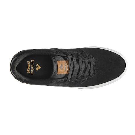 Emerica Reynolds Low Vulc Skate Shoe - Black/Brown