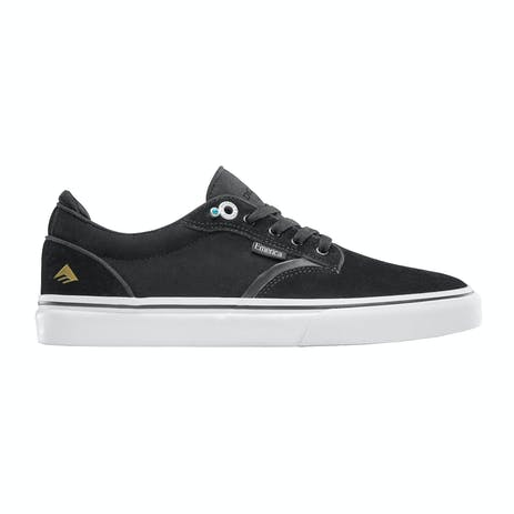 Emerica Dickson Skate Shoe - Black/White/Gold
