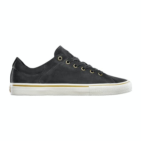 Emerica Omen Lo SB Reserve Skate Shoe - Black Raw Leather