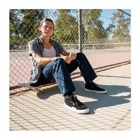 Emerica Pillar Skate Shoe - Black/White/Gold