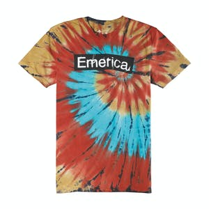 Emerica Pure Sticker Tie-Dye T-Shirt - Maroon