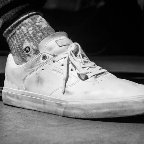 Emerica Reynolds LV Reserve Skateboard Shoe - White/White