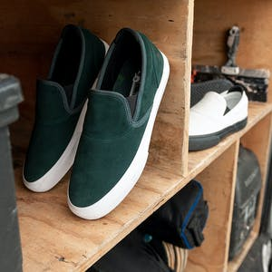 Emerica Wino G6 Slip-On Skate Shoe - Green/White