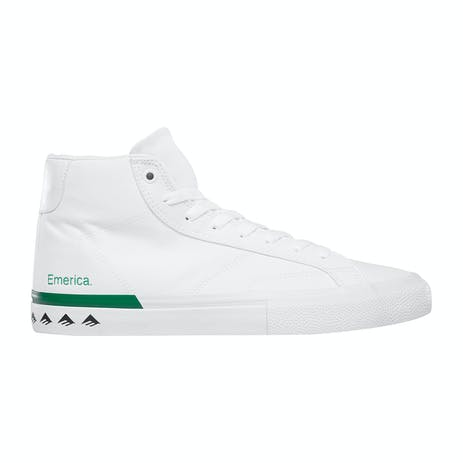 Emerica Omen Hi Skate Shoe - White/Green