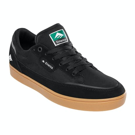 Emerica Gamma Skate Shoe - Black/Gum