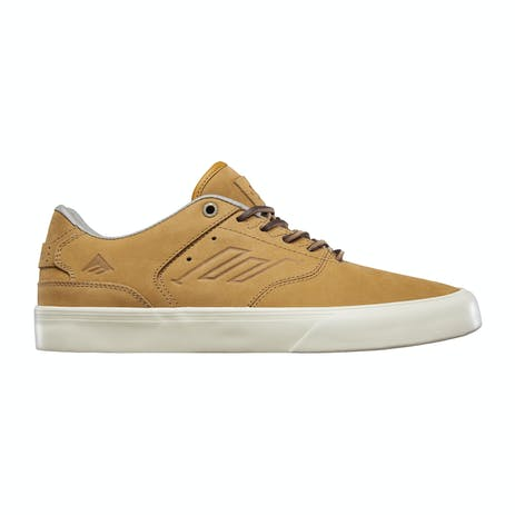 Emerica Low Vulc Skate Shoe - Brown Leather