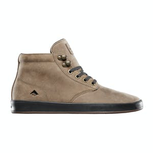 Emerica Romero Laced High Skate Shoe - Brown/Gold/Black Leather