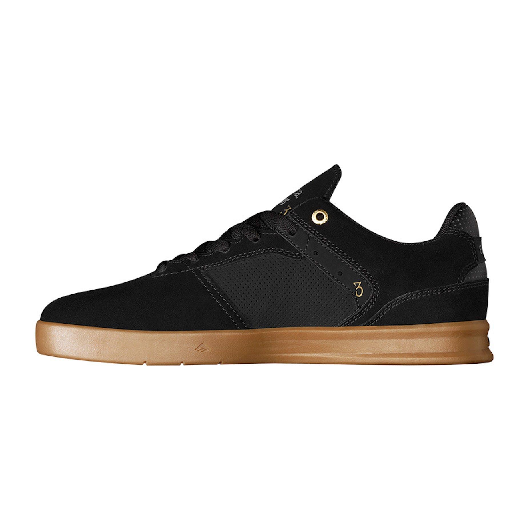 Emerica Reynolds G6 Skate Shoes - Black/Black/Gum