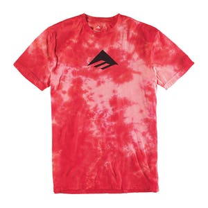 Emerica Burning Down Tie-Dye T-Shirt - Red