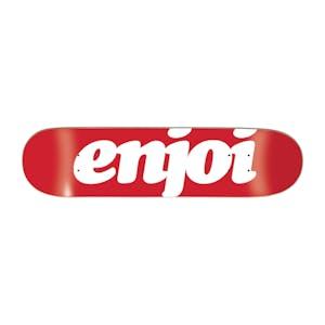 """Enjoi Flocked 7.75"""" Skateboard Deck - Red"""