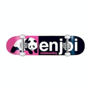 """Enjoi Half & Half 8.0"""" Complete Skateboard - Pink/Black"""
