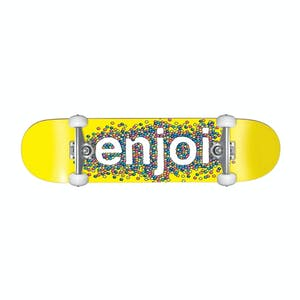 "Enjoi Candy Coated 8.25"" Complete Skateboard - Yellow"