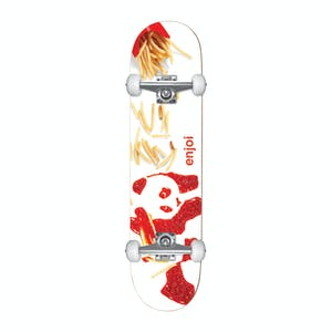 "Enjoi Fries 7.0"" Youth Complete Skateboard - White"