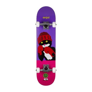 "Enjoi Catty Pacqmeow 7.5"" Complete Skateboard - Purple/Pink"