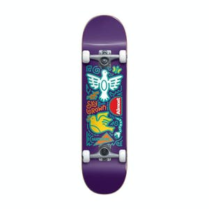"Almost Sky Brown Doodle 7.875"" Complete Skateboard - Purple"