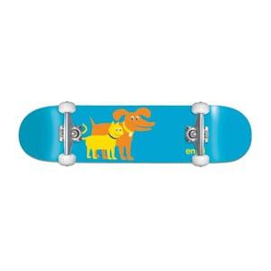 """Enjoi Cat & Dog 7.0"""" Youth Complete Skateboard - Blue"""