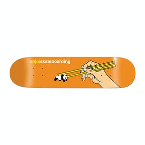 "Enjoi Chopsticks 8.0"" Skateboard Deck - Orange"
