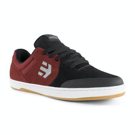 etnies Marana Skate Shoe - Black/Dark Grey/Red