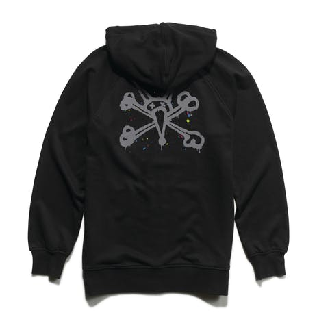 etnies x Bones Splatter Zip Hoodie - Black