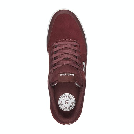 etnies Marana Skate Shoe - Maroon/White