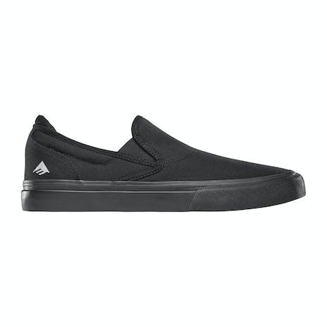 Emerica Wino G6 Slip-On Skate Shoe - Black/Green/Black