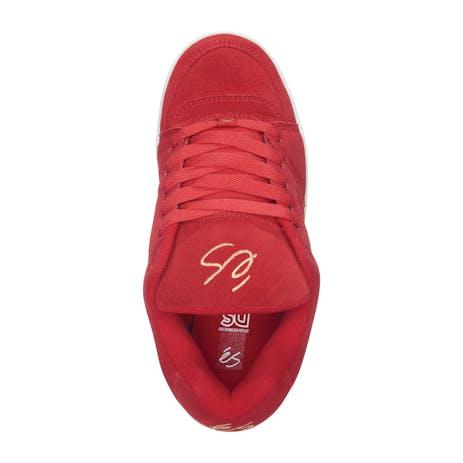 Es Accel OG Skate Shoe - Red/Gold