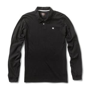 Fourstar Pirate Long Sleeve Polo Shirt - Black